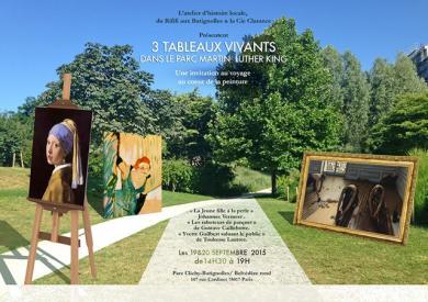 3 tableaux vivants dans le parc